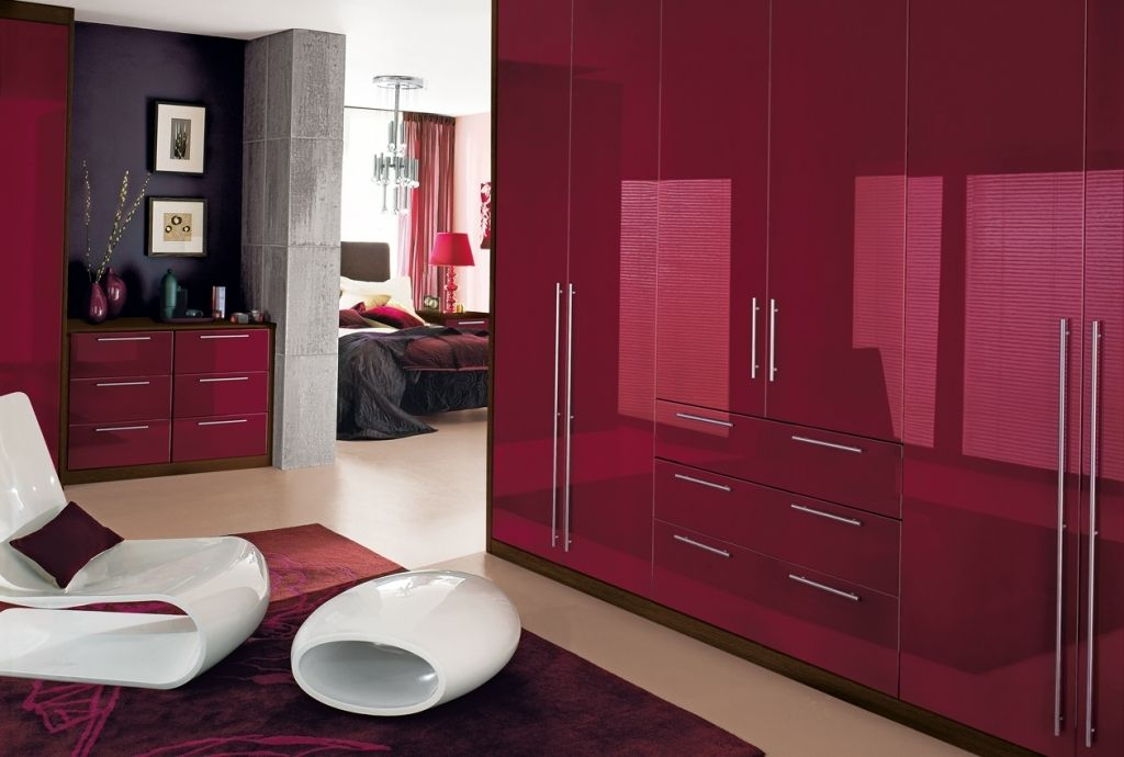 Red High Gloss Bedroom Furniture cosmopolitan bedroom furniture ...