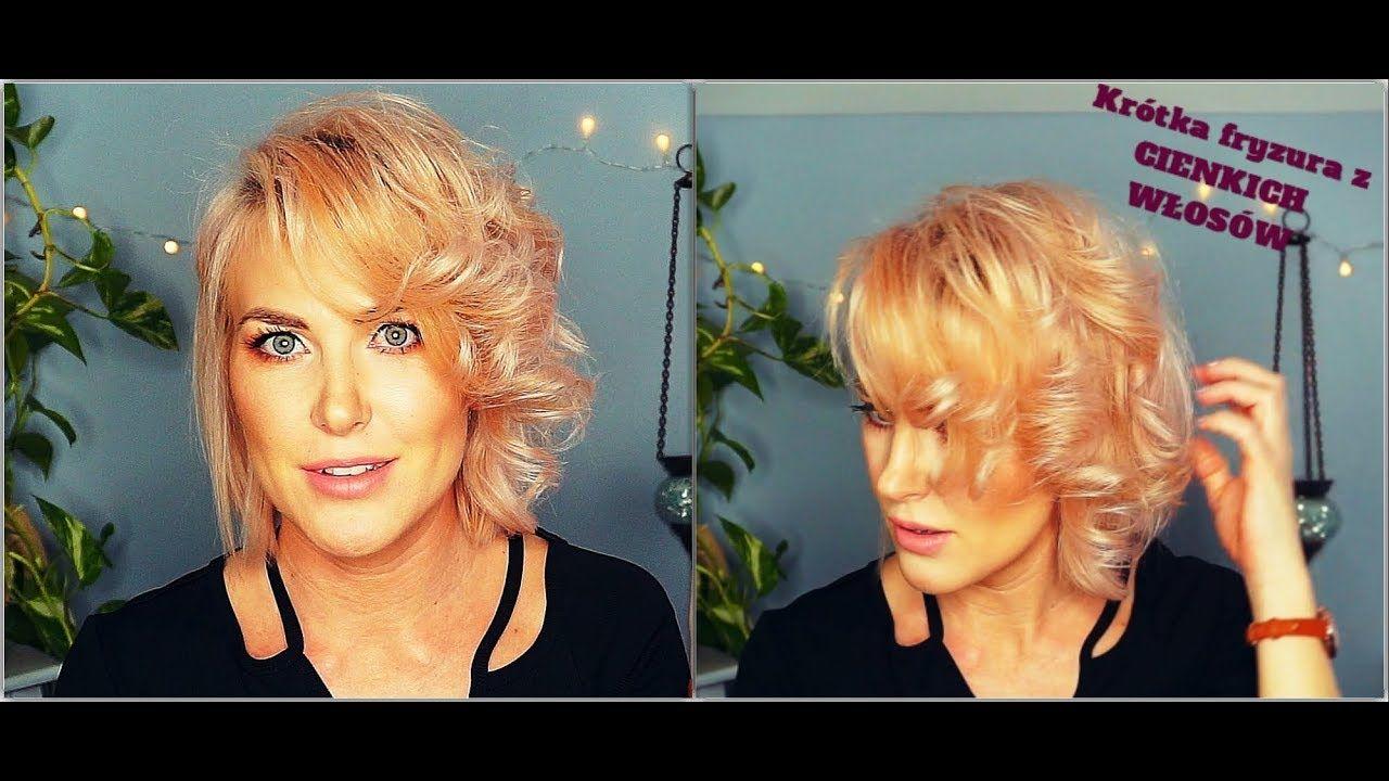 Szybka Fryzura Dla Cienkich Włosówshort Hair