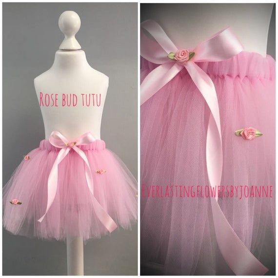 Photo of Rose bud tutu tulle skirt pink birthday girl cake smash outfit princess photo shoot bridesmaid flower girl tutu pretty pink dressing up