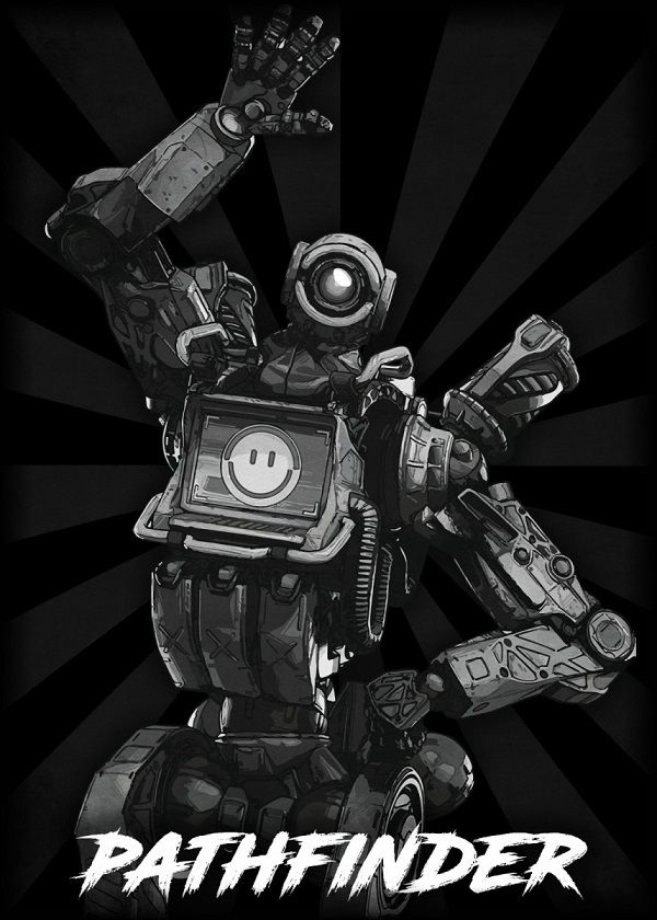 "Apex Legends B&W Radial Characters Pathfinder #Displate explore Pinterest""> #Displate artwork by artist ""Durro… 