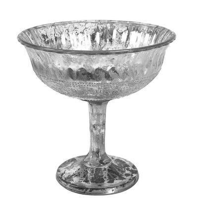 Home Decorators Collection Daniella 7 in. Pedestal Decorative Bowl in Mercury…