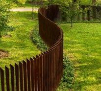 kreative gartenzaungestaltung mit praktischem einsatz - schauen, Garten ideen