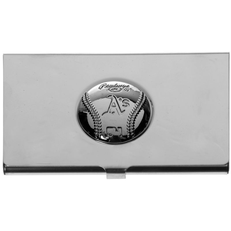 Oakland Athletics Rawlings Engraved Metal Business Card Case ...