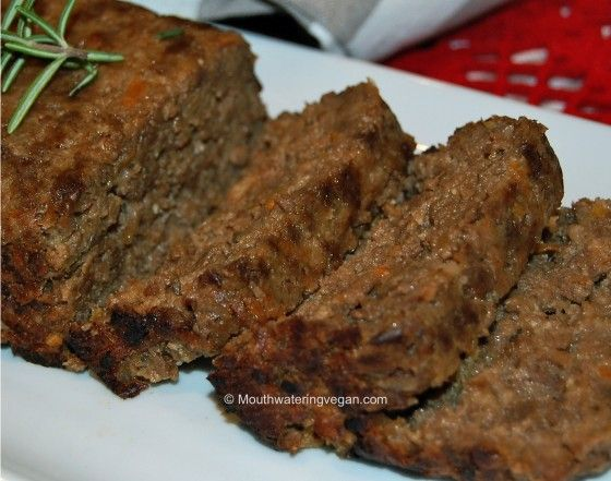"""@Diner-Style """"Meat"""" Loaf. @Mouthwatering Vegan Recipes"""