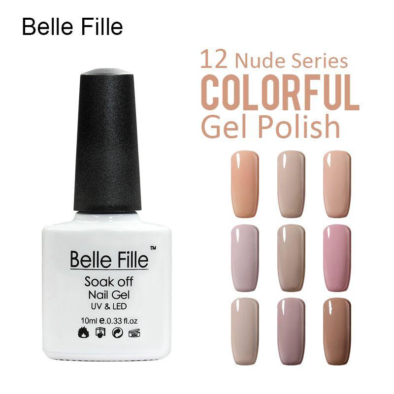 Color Nude Esmalte de Uñas de Gel CND BELLE FILLE 10 ml Brown UV ...
