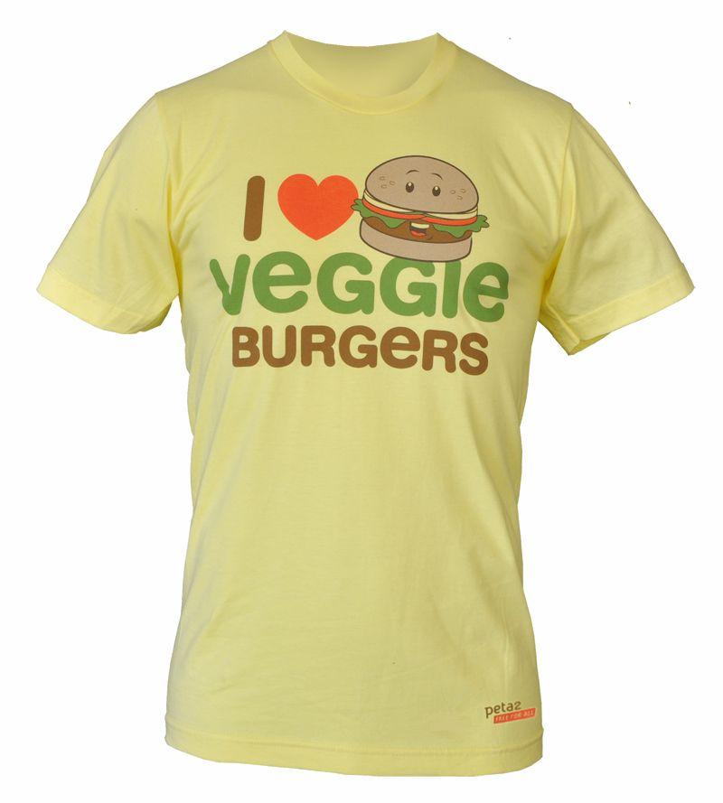 I <3 Veggie Burgers ~ Cute!!