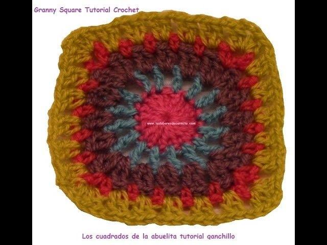 Patron crochet los cuadrados de la abuelita 8 granny square ...