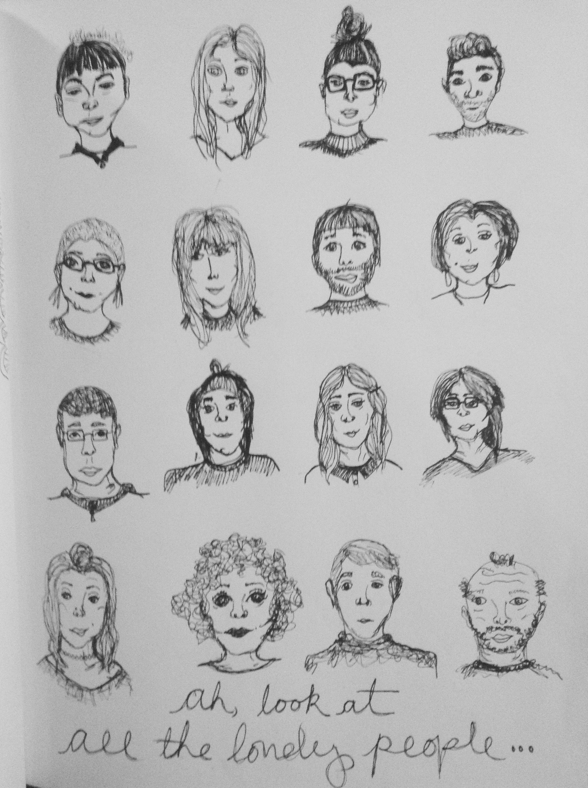 Pen and ink drawings draw faces how to simple faces people art pen and ink drawings draw faces how to simple faces people art ccuart Image collections