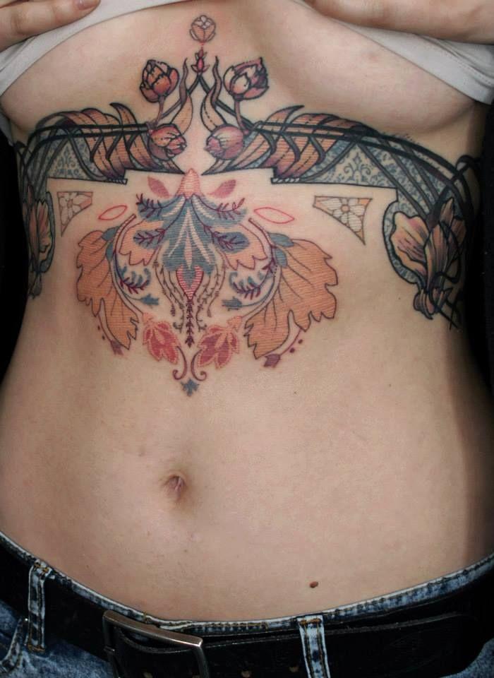 Art Nouveau Tattoo Design By Tegan Ray: Art Deco Tattoo From Talented Tattoo Artist Aďa Https
