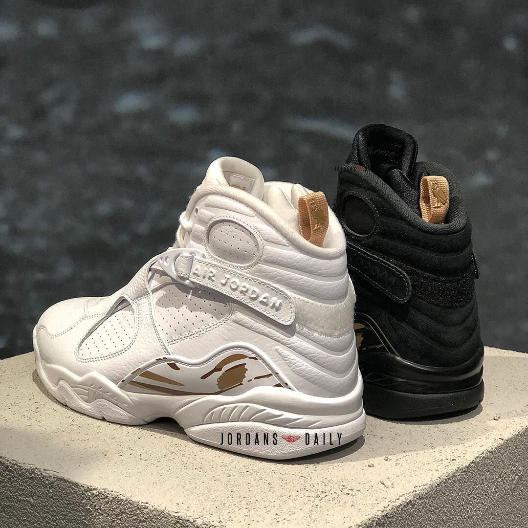 "buy online 30395 60ccf Air Jordan 8 ""OVO"" Pack. February 16, 2018 - $225 White or ..."