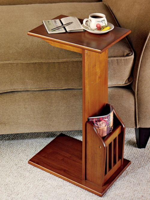Magazine snack table tv tray family room reader table for Mobilia kitchen table