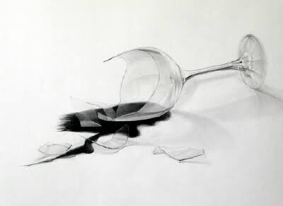 Broken Wine Glass Photograph by Michal Boubin   Broken Wine Glass Painting