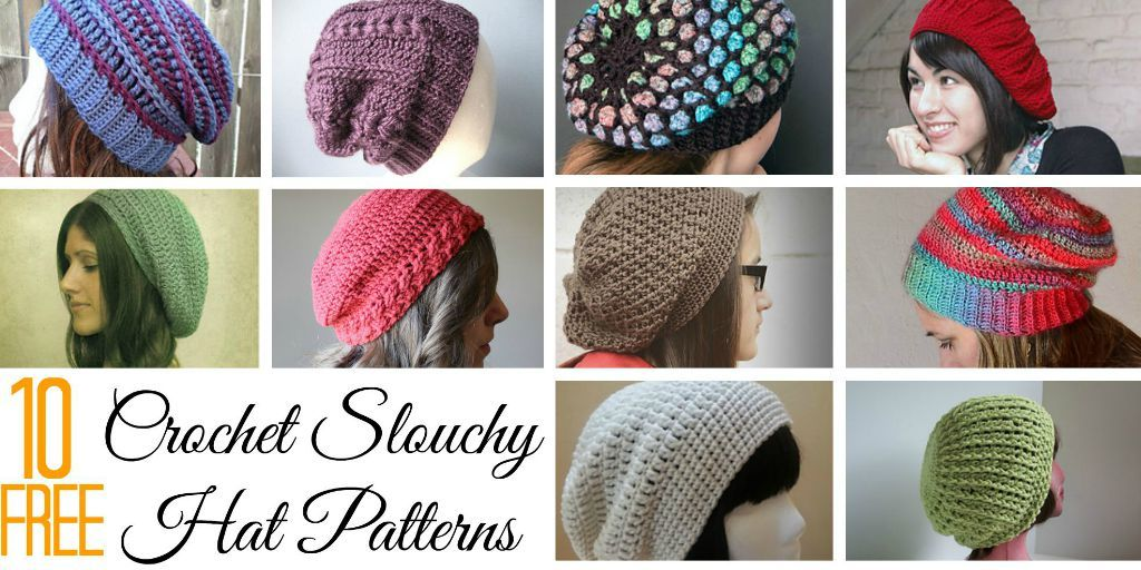 10 Free Crochet Slouchy Hat Patterns Chaleur Life Crocheting