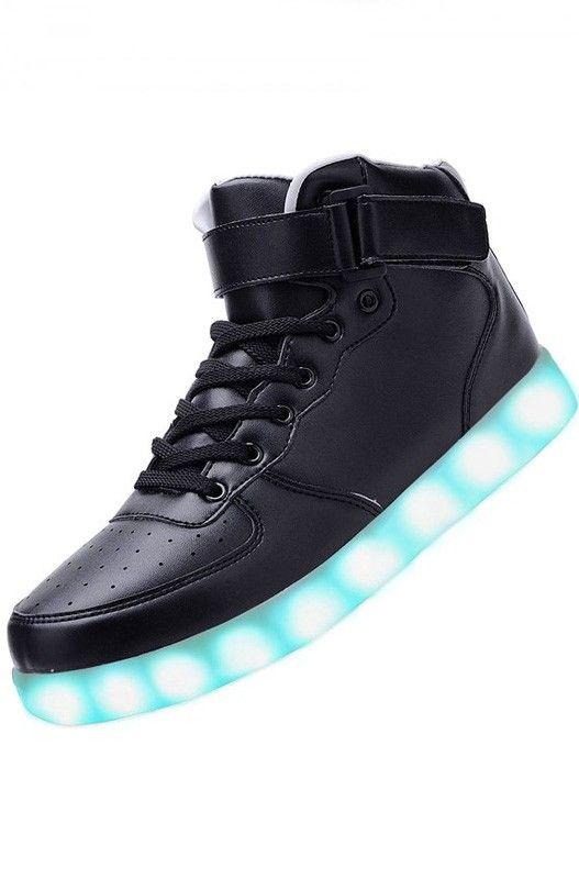 (Present:kleines Handtuch)Weiß EU 46, mode Top Sport Women Men Charging USB High Shoes 7 Casual Sneakers Couple JUNGLEST® Color Sneakers Luminous