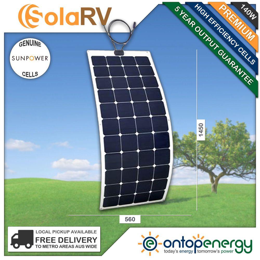 SolaRV 140W 12V Premium Monocrystalline Flexible Solar