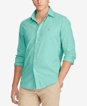 Polo Ralph Lauren Men s Classic Fit Garment Dyed Chino Shirt - Island Green  S a5a9a8c6bb225