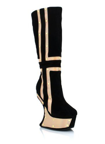 Shoes: Iridescent Accented Heel-Less Boots: Buy New: $62.10