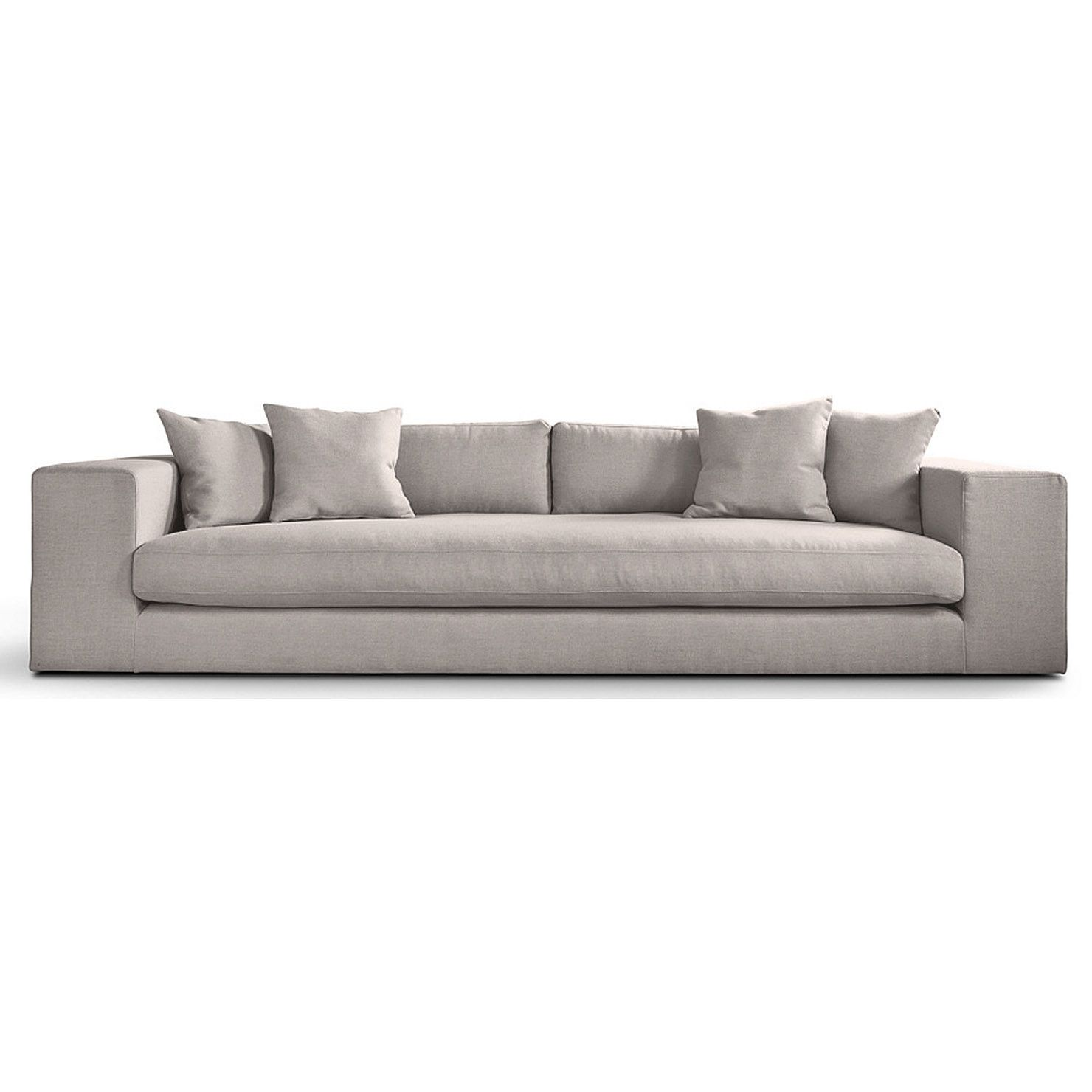 Barlow Fabric 4 Seater Sofa Dove Achica Luxury Sofa Sofa