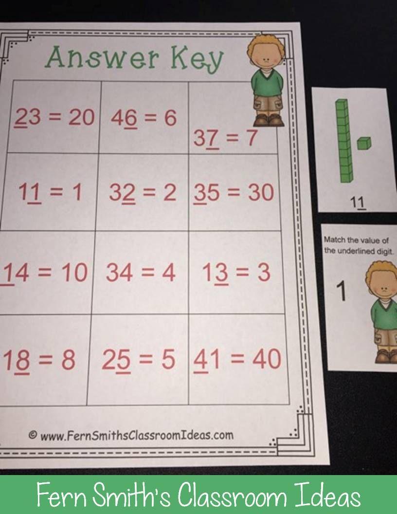 2nd Grade Go Math 1.3 Understanding Place Value Bundle | Small ...