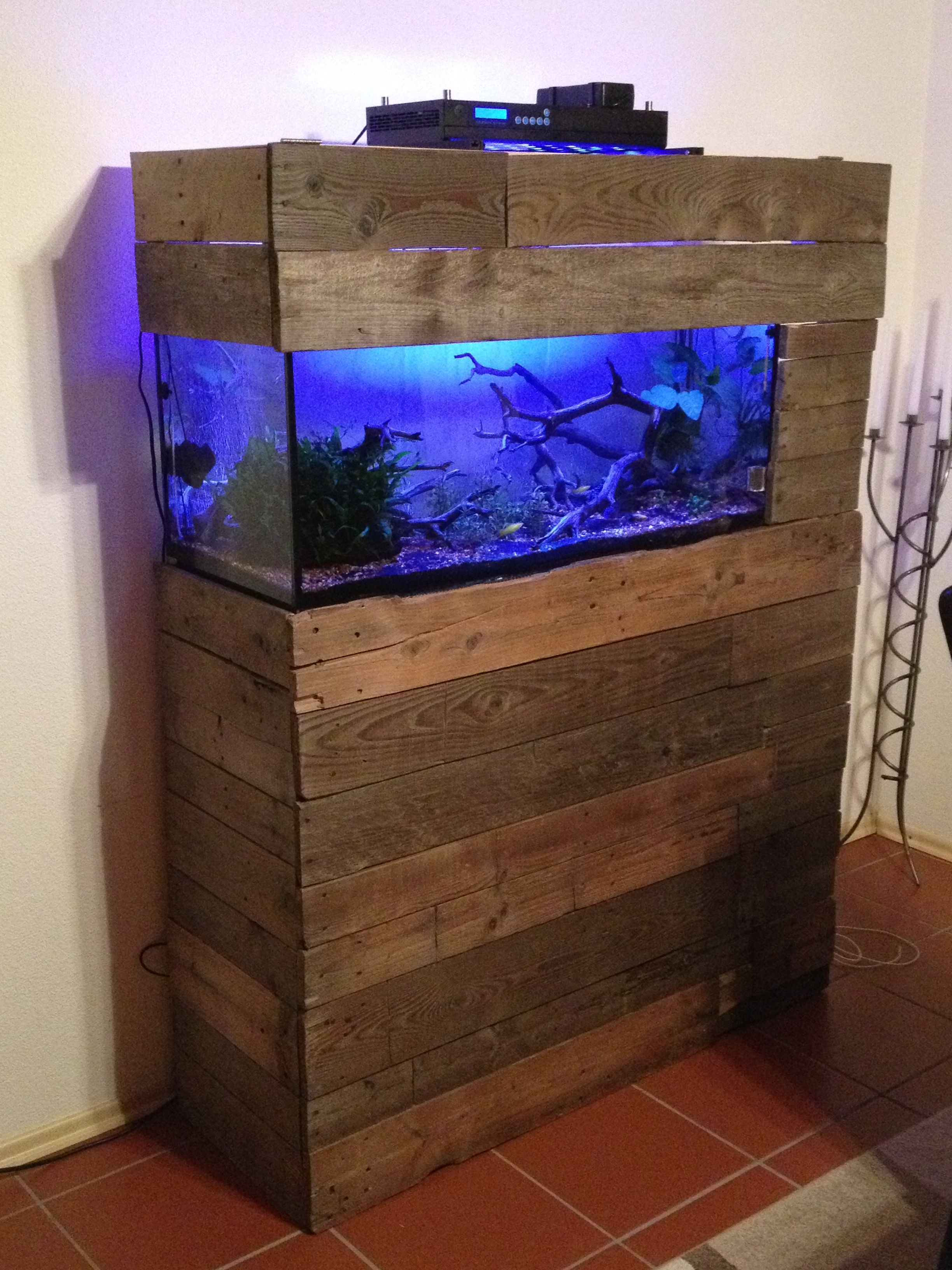 Fish tank wood - Reclaimed Barn Wood Tank Fish Tank Stand