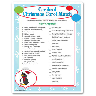 Christmas Brain Teasers For Adults.Christmas Carol Brain Teasers See If You Can Match The Not