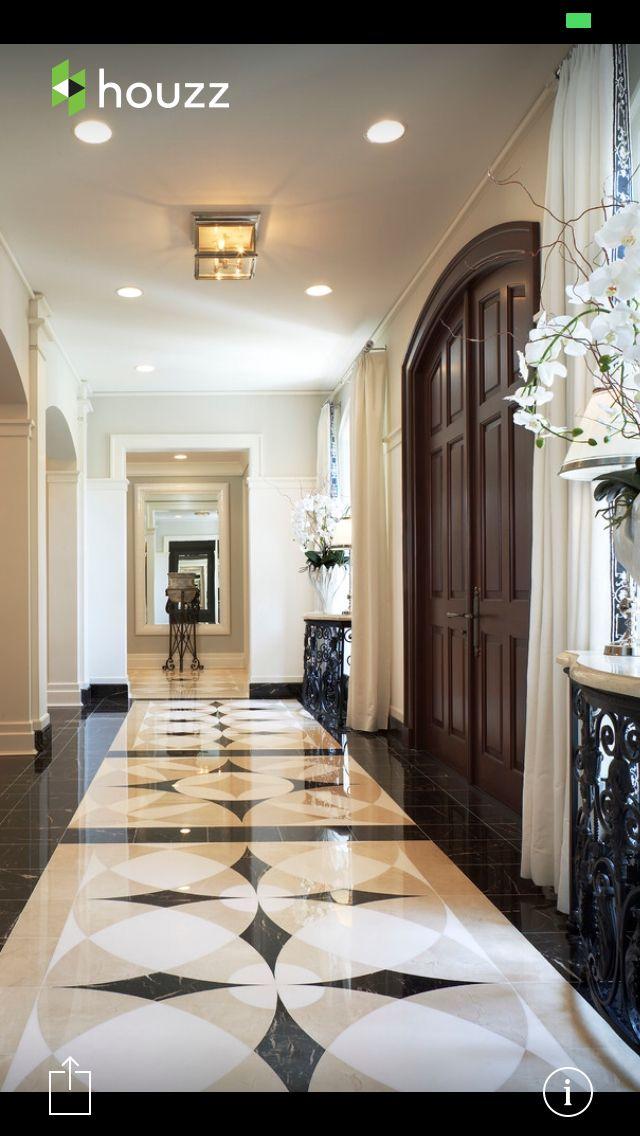 Entry Hallway Marble Flooring Design Foyer Flooring Entryway