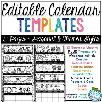 Keep Families Informed With These Monthly Calendars I Like To Send Home As Stand