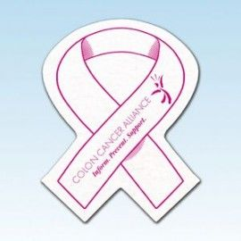 Awareness Ribbon Shaped Shammy Coaster