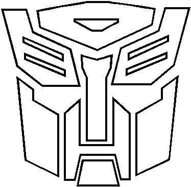 Transformers Autobot Outline Decal Sticker Logo Outline