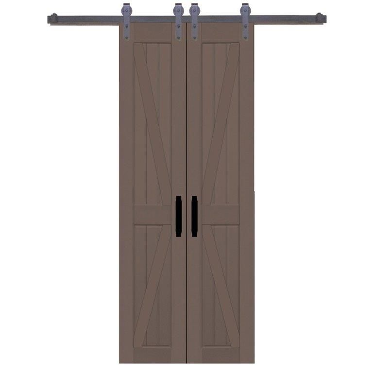 Space Saving Light Weight And Looks Great In Any Room Operates Smoothly Includes 2 Sets Of Pre Installed Magnets T House Styles Barn Door Bifold Barn Doors