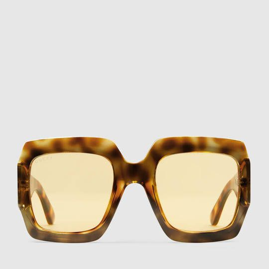 60502ef8bf8f Gucci Oversize square-frame sunglasses