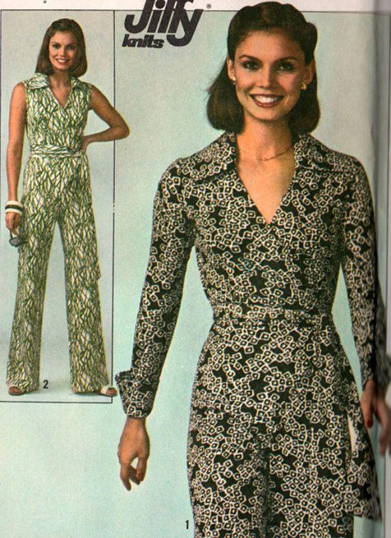 Simplicity 7937 Diane von Furstenberg Style Wrap Jumpsuit 70s ...