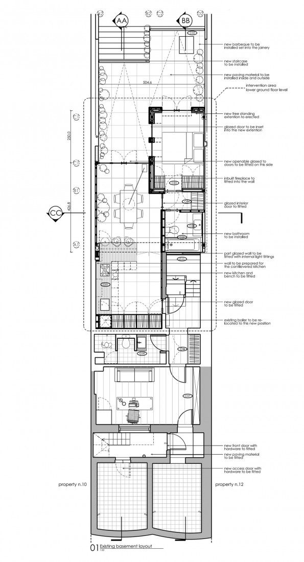 Duncan Terrace By Dosarchitects Architectural Floor Plans House Plans Uk Hotel Room Design