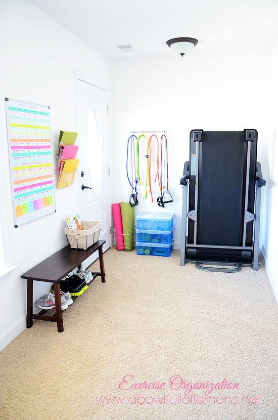 Exercise Room Organizing - A Bowl Full of Lemons Heath and - design ideen tipps fitnessstudio hause