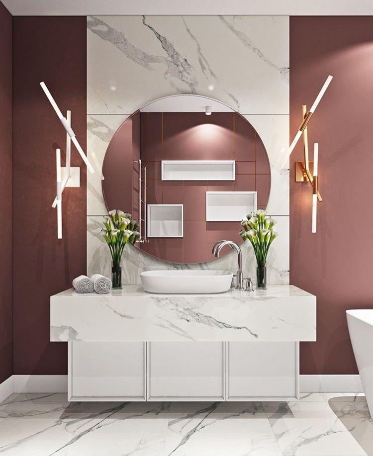 Cool wall lamps! Bathroom\u0027s Pinterest Walls, Bath and Washroom