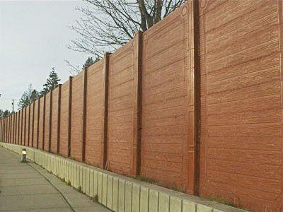 Brown Concrete Fence Outdoor Fence Concrete Duracrete Romafence Backyard Fences Front Yard Fence Cheap Fence