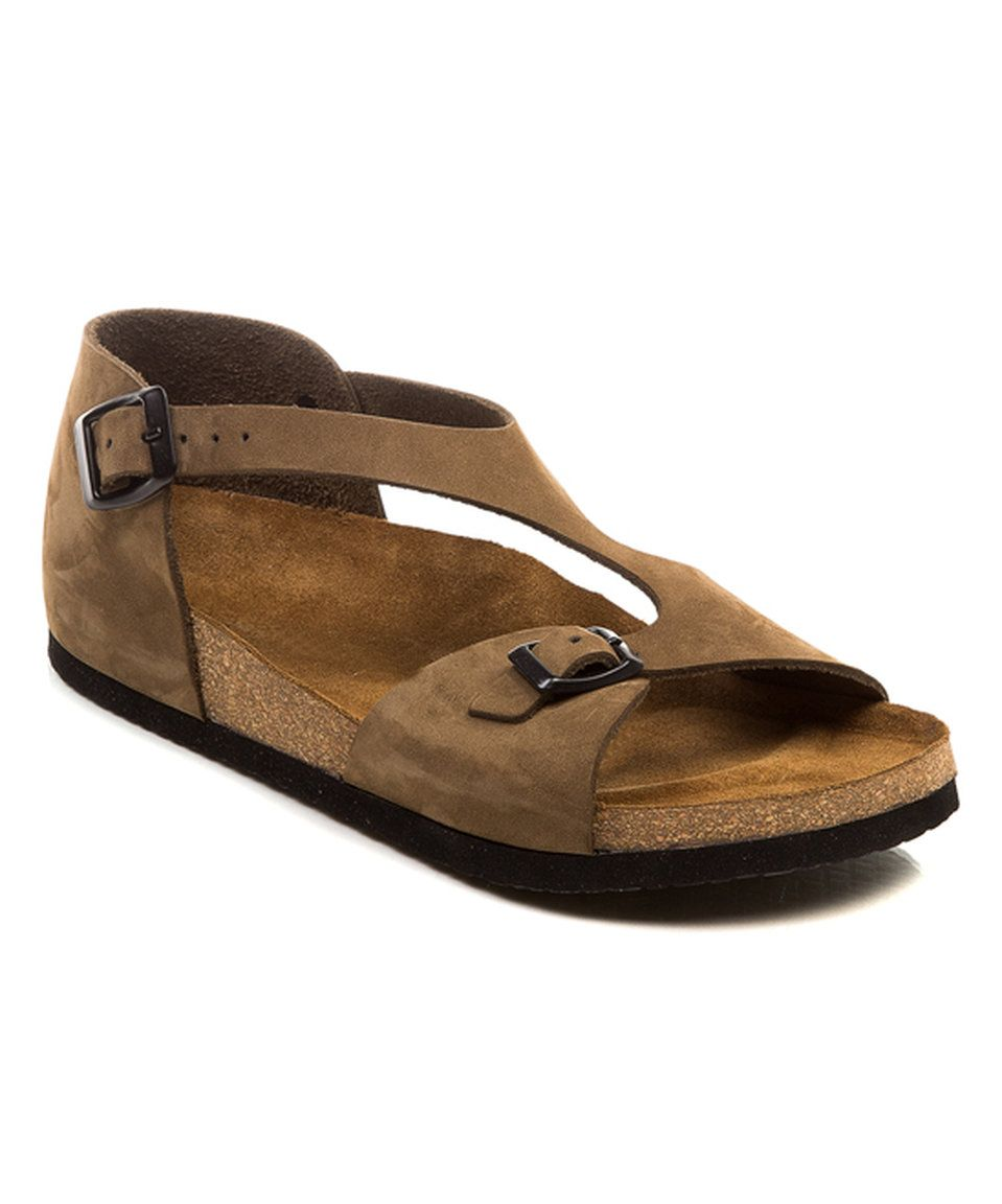 6238063f0f0d Take a look at this Comfortfusse Sand Lorah Leather Sandal - Women today!