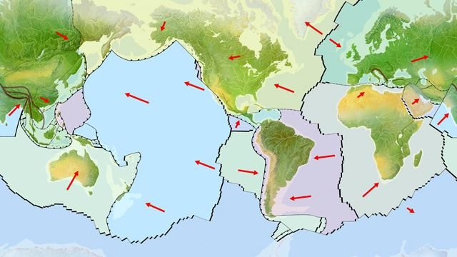 Plate tectonics is an important theory developed in the 1960s to - copy world map with ocean trenches
