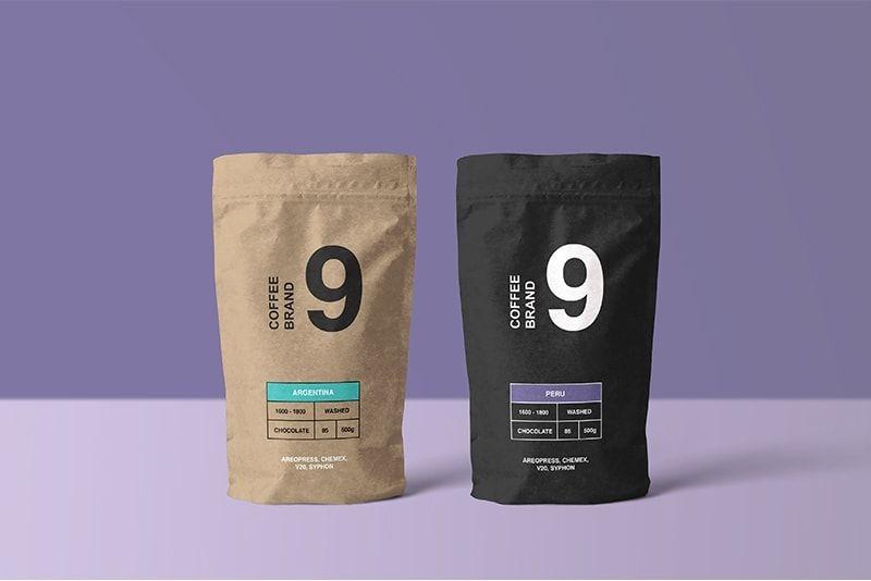 Free Paper Coffee Bag Psd Mockup Free Coffee Coffee Bag Design Coffee Packaging