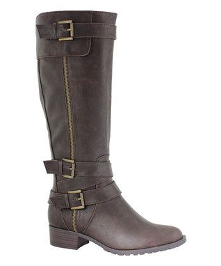 Chocolate Texas Extra Wide-Calf Boot