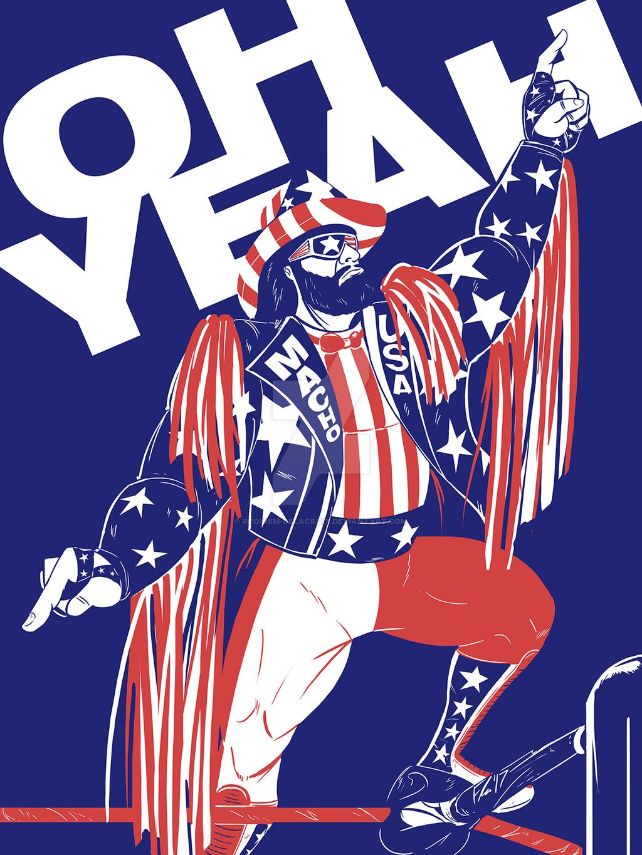 Randy Savage Art Wrestling Posters