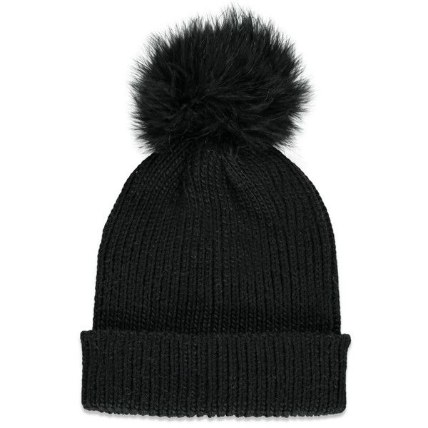 d974e1a0f42 Forever 21 Women s Fuzzy Pom Pom Beanie ( 9.90) ❤ liked on Polyvore  featuring accessories