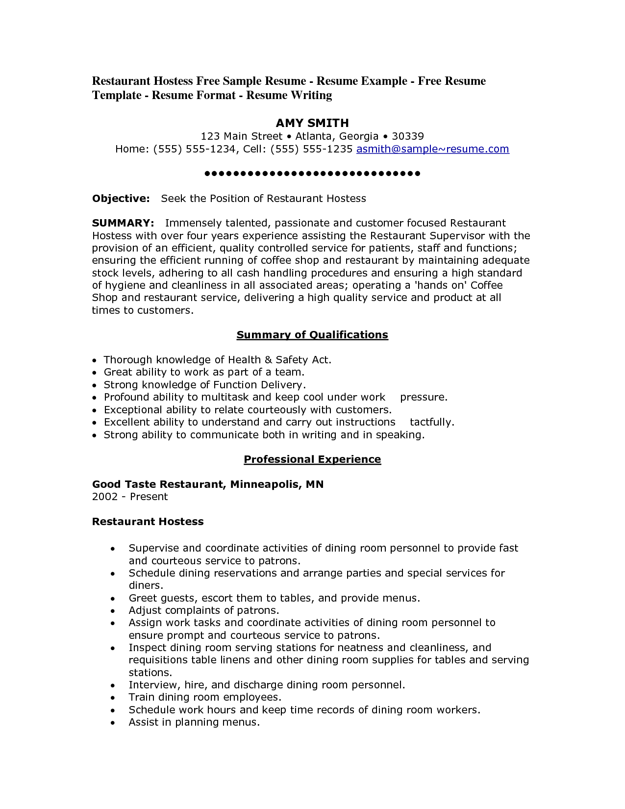 food service worker sample resume engineer cover letter ...