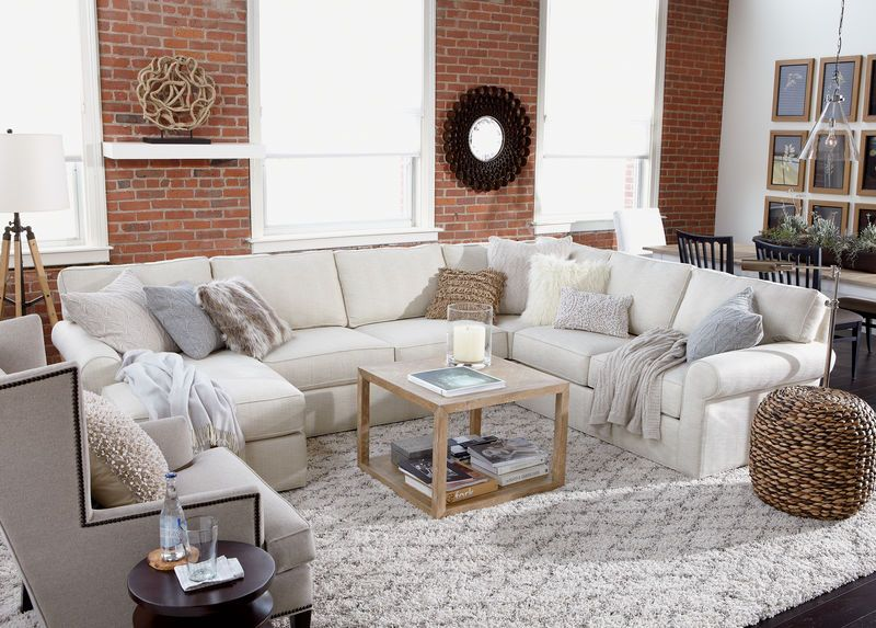 Best Retreat Roll Arm Sectional With Chaise Chic Living Room 400 x 300
