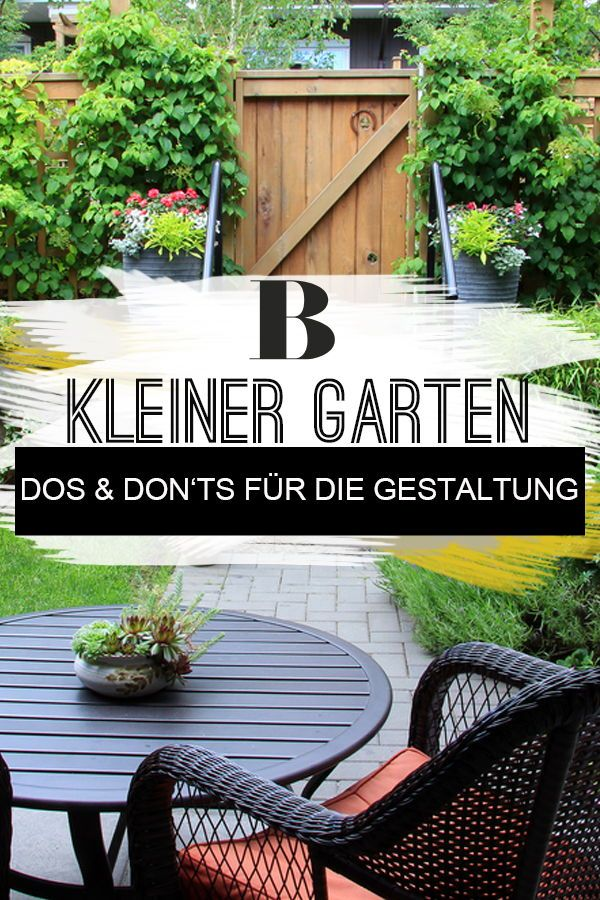 Kleiner Garten: 10 Dos and Don'ts