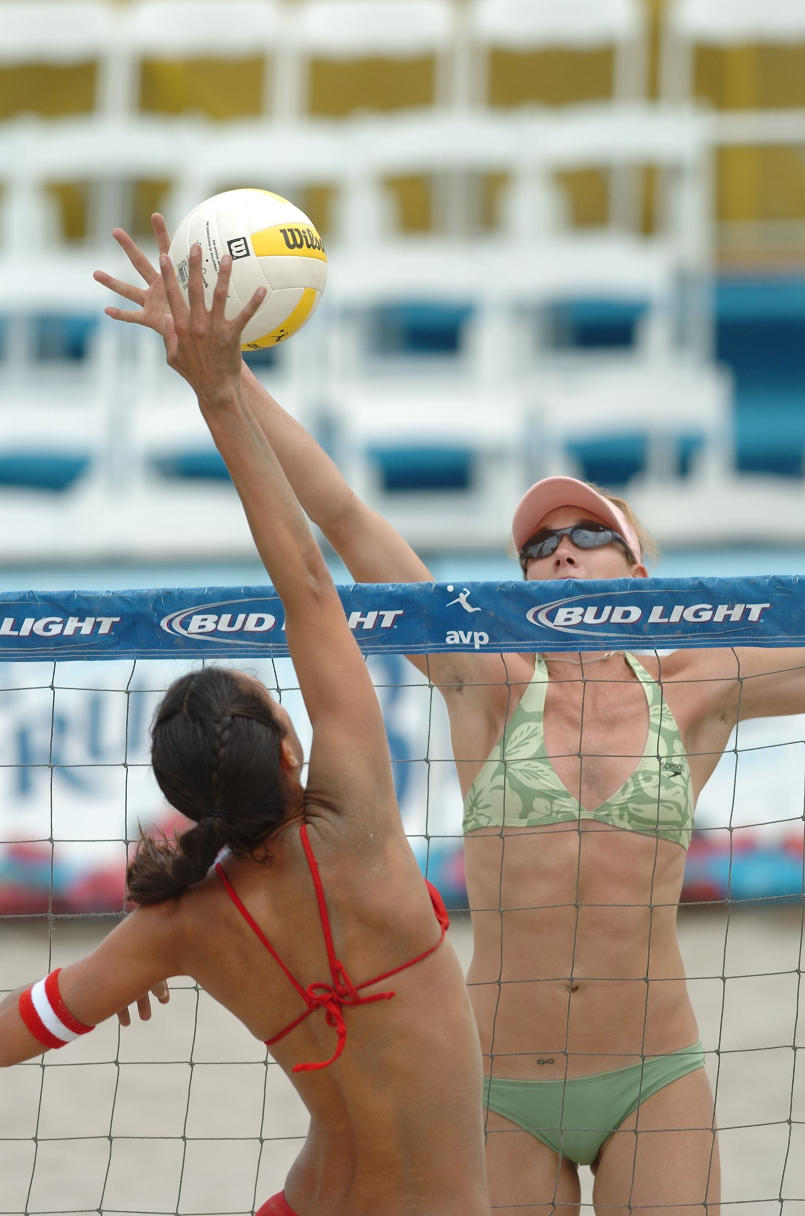 Beach Volleyball Avp At The Net Versus The Incredible Kerri Walsh Volleyball Training Beach Volleyball Indoor Volleyball