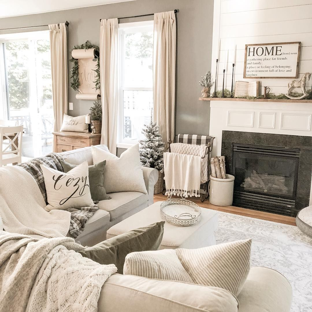 Finally A Clean House It Never Looks Like That In The Family Room It S Where The K Simple Living Room Decor Living Room Decor Rustic Farm House Living Room