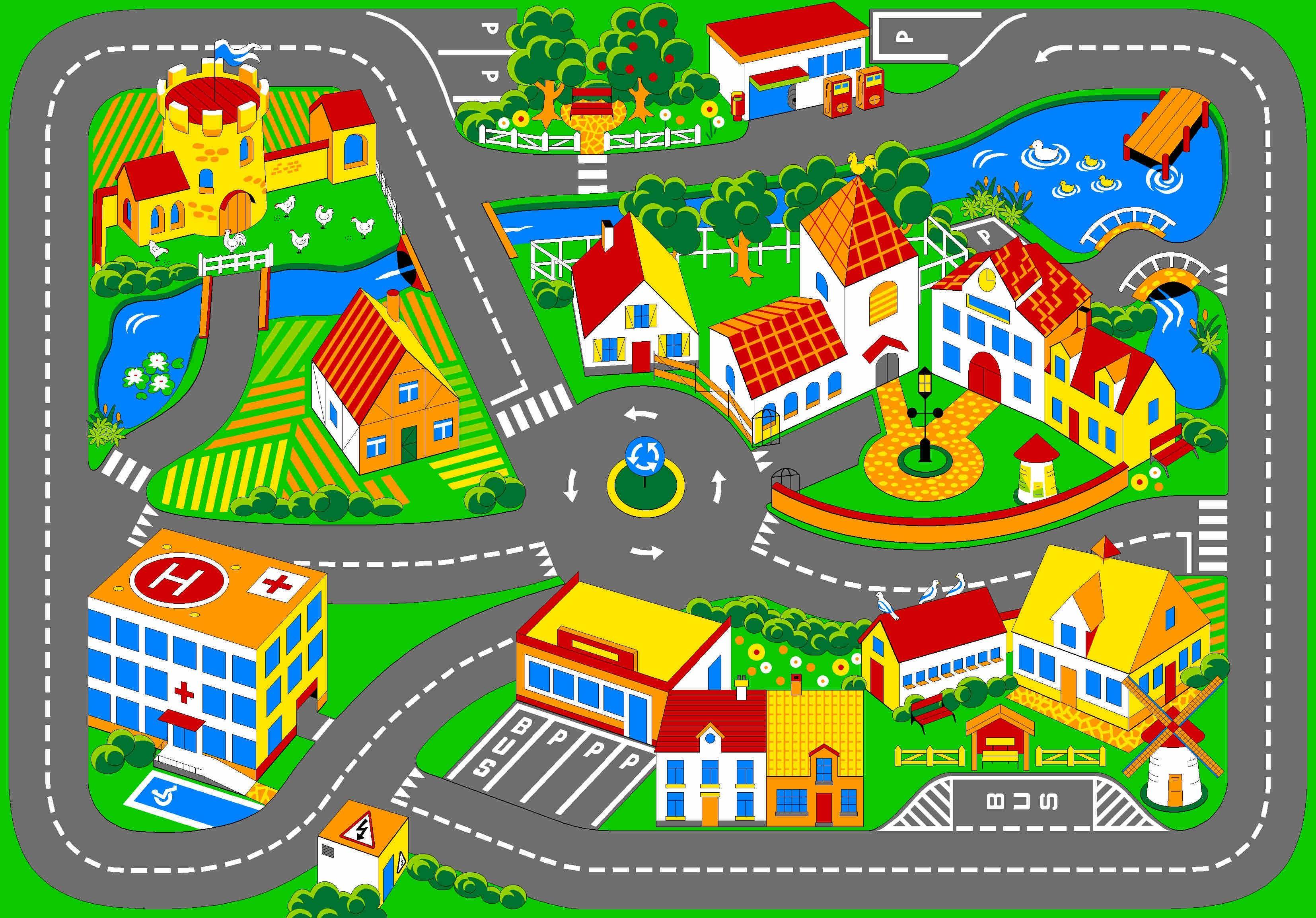 Дорога картинка для детей нарисованные