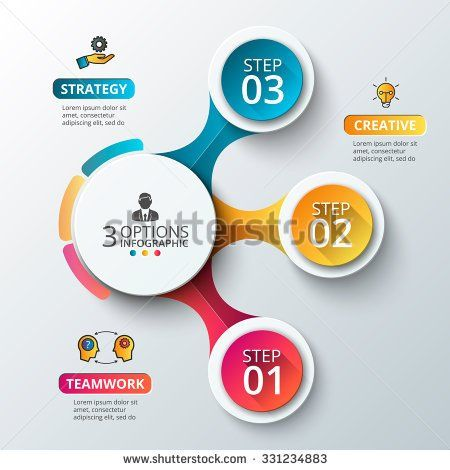Vector Elements For Infographic Template For Diagram Graph