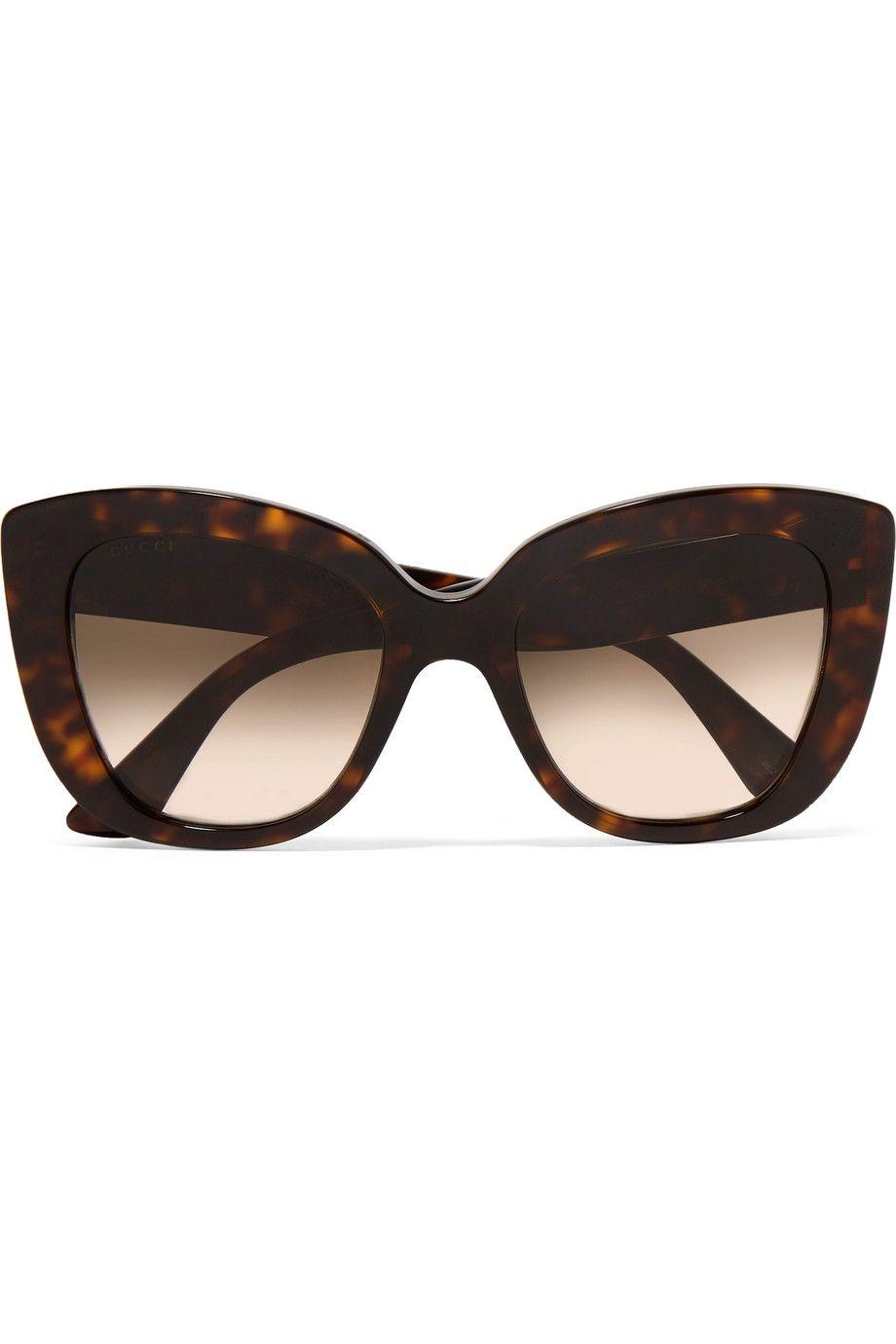 c4fd868453f Gucci | Havana cat-eye tortoiseshell acetate sunglasses | NET-A-PORTER.COM